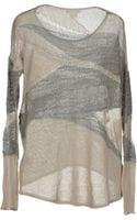 Helmut Lang Long Sleeve Sweater - Lyst