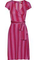 Issa Wrapeffect Printed Jersey Dress - Lyst