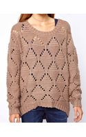 American Vintage Chunky Jumper in Fancy Knit - Lyst