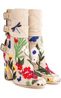 Laurence Dacade Merli Embroidered Canvas Boot - Lyst