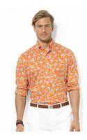 Polo Ralph Lauren Custom Fit Floral Poplin Shirt - Lyst