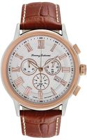 Tommy Bahama Womens Swiss Chronograph Light Brown Leather Strap Watch 46mm - Lyst