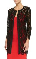 Milly Sheer Floral Lace Open Coat - Lyst