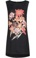 Mango Floral Print Dress - Lyst