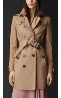 Burberry Handpainted Collar Gabardine Trench Coat - Lyst