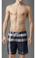 Burberry Check Swim Shorts - Lyst