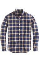 J.Crew Slim Vintage Oxford Shirt in Navy Plaid - Lyst
