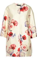 Giambattista Valli Floralprint Satintwill Coat - Lyst