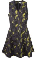 Kenzo Abstract Print Flared Dress - Lyst