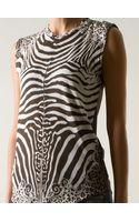 Balmain Zebra Print Tshirt - Lyst