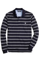 Brooks Brothers Slim Fit Longsleeve Stripe Polo Shirt - Lyst