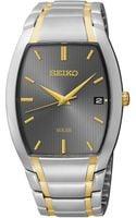 Seiko Mens Solar Two-tone Stainless Steel Bracelet Watch 35mm Sne334 - Lyst