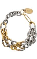 Lanvin Nancy Gold-tone and Silver-tone Chain Necklace - Lyst