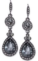 Givenchy Light Hematite-tone Black Crystal Teardrop Earrings - Lyst