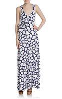 Diane Von Furstenberg Samson Printed Wrap Maxi Dress - Lyst