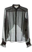 Christopher Kane Silk Reptile Printed Top - Lyst