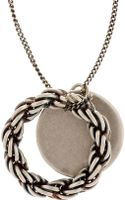 Goti Silver Twisted Ring Necklace - Lyst