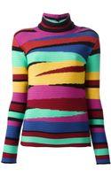 Tsumori Chisato Intarsia Turtle Neck Sweater - Lyst