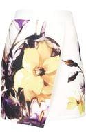 Topshop Floral Scuba Wrap Skirt - Lyst