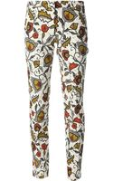 Incotex Floral Print Trouser - Lyst