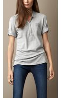 Burberry Cotton Modal Polo Shirt - Lyst