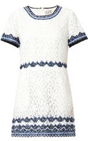 Sea Embroidered Lace Shift Dress - Lyst