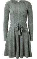 Paule Ka Wool Cashmere Belted Dress - Lyst