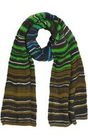 M Missoni Multicolor Waves Wool Blend Knit Scarf - Lyst