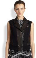 Ohne Titel Leather Boucle Vest - Lyst