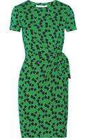 Diane Von Furstenberg Zoe Printed Stretch-jersey Wrap Dress - Lyst