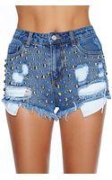 Nasty Gal Devan Cutoff Shorts - Lyst