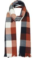 Topshop Womens Rust Check Scarf Rust - Lyst