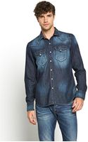 Replay Mens Washed Denim Long Sleeve Shirt - Lyst