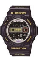 G-shock Baby G Mens Tide Graph Watch in Purple - Lyst