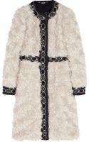 Matthew Williamson Embellished Woolpaneled Mohair Coat - Lyst