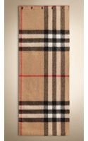 Burberry Exploded Check Cashmere Snood - Lyst