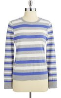 Vince Camuto Striped Sweater - Lyst