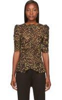 Etoile Isabel Marant Silk Caja Leopard Top - Lyst