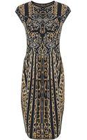 Roberto Cavalli Leopard Baroque Knit Dress - Lyst