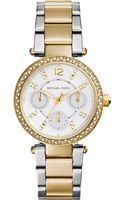 Michael Kors Womens Chronograph Mini Parker Twotone Stainless Steel Bracelet Watch 33mm - Lyst