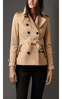 Burberry Cotton Gabardine Trench Jacket with Contrast Tape Detail - Lyst
