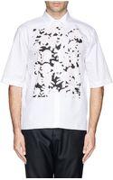 Marni Floral Bib Cotton Shirt - Lyst