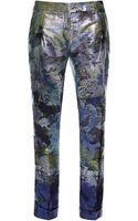 Antonio Berardi Cropped Brocade Pants - Lyst