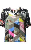 Preen By Thorton Bregazzi Mixed Print Tshirt - Lyst