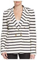 Escada Stripe Double-breasted Blazer - Lyst