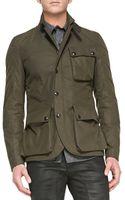 Belstaff Boxworth 3pocket Jacket Military Green - Lyst