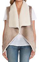 Velvet By Graham & Spencer Nia Faux Fur Vest - Lyst