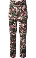 Givenchy Floral Print Trousers - Lyst