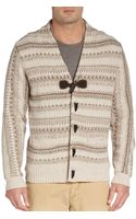 Hickey Freeman Fair Isle Toggle Cardigan - Lyst
