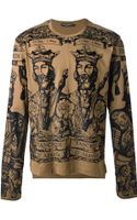 Dolce & Gabbana Baroque King Print Tshirt - Lyst